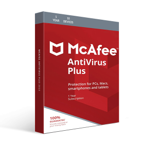 McAfee Antivirus Plus 10-Devices-Unlimited / 1-Year